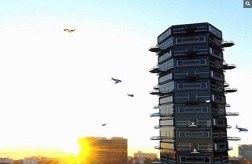 电路板厂之未来派公寓楼智能阳台可停放无人机?