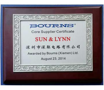 2014年BOURNS核心供应商